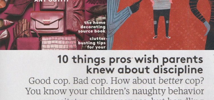 Julie Wright's Discipline Tips in Real Simple Magazine